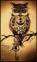 Clock owl by gilly15