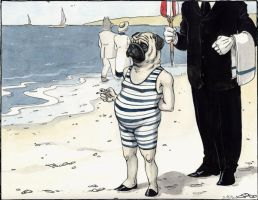 Pug by the Seaside by cidaq