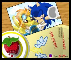 Gift : Sonic and Spitfire - A lot on my Desk by BroDogz