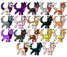 Cat adopts 23 [Open] by Kyou-Adoptables