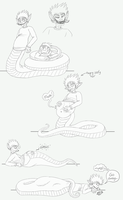 Buncha DerpSnake Doodles...and Vore by Earwiggy