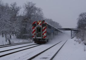 The Speeding Snow Train by JamesT4