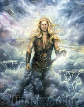 Thor, God of Thunder by LinzArcher