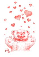 Bearly released valentine by Gib-Art-and-Pinups