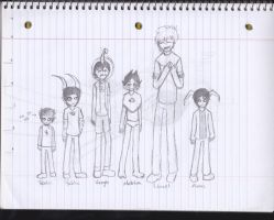 Just some Height comparisons just passing through by ZombieHighSchoolKid