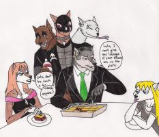 Family Dinner Squabbles by 13foxywolf666