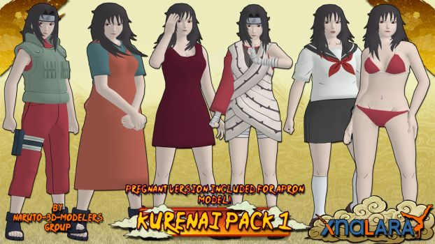 Naruto - Kurenai PACK 1! (FOR XPS) by MVegeta
