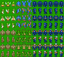 Space Marine Sprites by Asurael-Returns