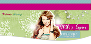 Miley Cyrus psd header by itskaname
