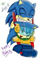 Zonic and Sonic - It's funny? by EliHedgie95