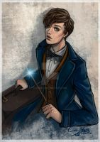 Newt Scamander by Syney