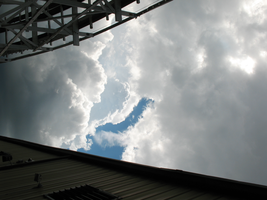 White Puffy Clouds at Kennywood by TheStockWarehouse