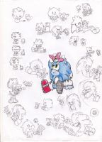 sonic and chip funny random by Paumol