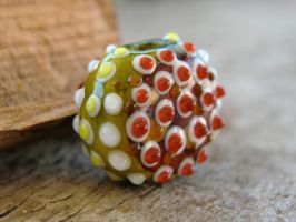 Watermelon Bumpy Bead Polymer Clay by CaterpillarArts