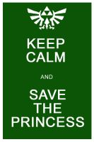 Keep Calm and Save the Princess by Rubiconia
