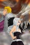 together against whole world/ Mirajane Laxus fight by Mirajanee