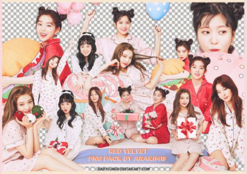 [PNG PACK] Red Velvet - Christmas Home Party by babyjung2