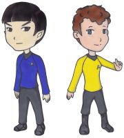 ST - Spock and Chekov Chibis by anruiukimi