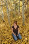 Lady in the leaves by kayaksailor