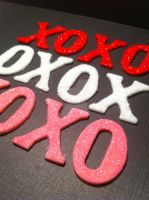 XOXO Valentines Cupcake Toppers by Corpse-Queen