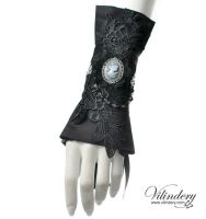 Victorian Goth Cuff Bracelet by vilindery