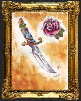 Oldschool Traditional Dagger by miss-tonic