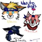 Naruto Characters as Dogs by Xmidnightblackwolfx