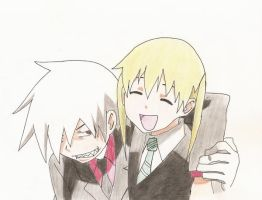 Soul eater .: Soul and Maka :. by mymyyue
