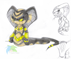 Apep the King Cobra by Crystalhedgie