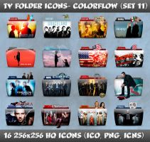TV Folder Icons ColorFlow . Set 11 by ashtray4241