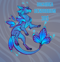 Flower dracat adopt. Orchidea Dendrobium. CLOSED by Artist-LaiNa