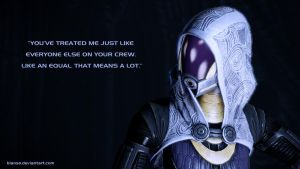 Tali'Zorah Wallpaper II by Bianso