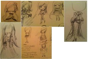 Chibi Outfit Design Sketches by CardCaptorMiele
