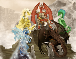 Dragon Council by FireDragonRem