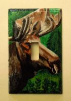 Moose Light Switch Plate by JazIllustrations