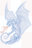 Hlrunaen Dragon Sketch by harrie5