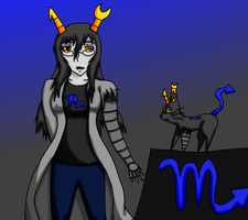 Vriska and Vriskitty by blazing-ninetales