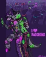 I love raccoons -censored version- by Darkkraven