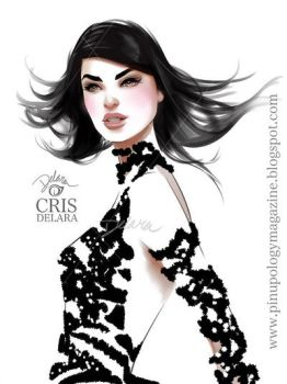 Friday + Black Dress by CrisDelaraArt
