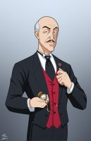 Alfred Pennyworth commission by phil-cho