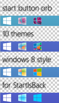 start button orb windows 8 style (1.1) by effe8