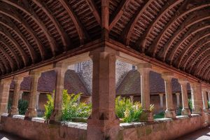cloisters of St Francois Mortagne au Perche Orne by hubert61