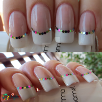 Confetti french manicure by Danijella