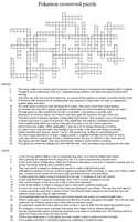 Pokemon crossword puzzle by Adrastia217