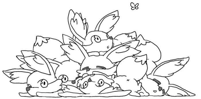 Pile of Fennekin by Muxicalm