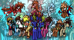 YGO-TAS Cast As Ponies by phlavours