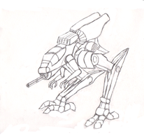 Light Recon Mech sketch by Streaked-Silver