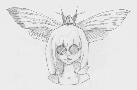 Moth Girl by SecondVoiceArt