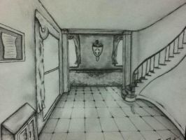 Perspective interior drawing by Ben3418