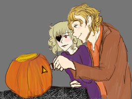 Carving Pumpkins by RosyAutumn